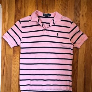 Pink and Navy Polo